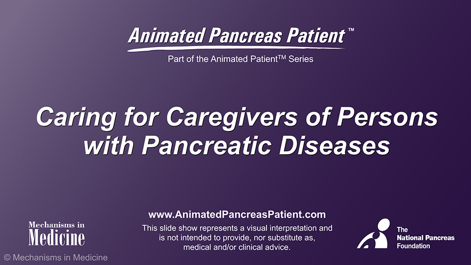Caring for Caregivers of Persons with Pancreatic Diseases