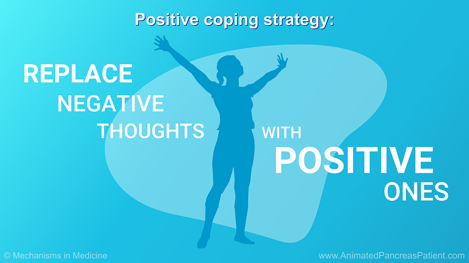 Positive coping strategy: Replacing negative thoughts with positive ones