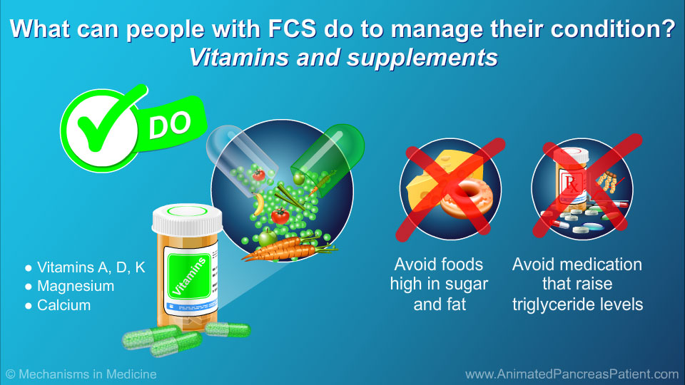 What can people with FCS do to manage their condition? – Vitamins and supplements
