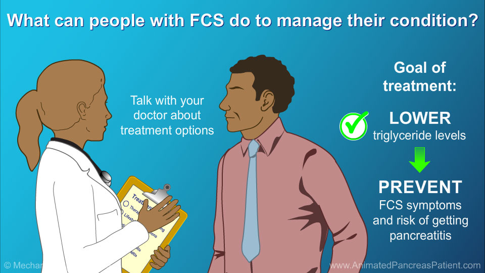 What can people with FCS do to manage their condition?